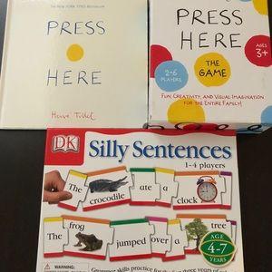Press Here Book & Game Set